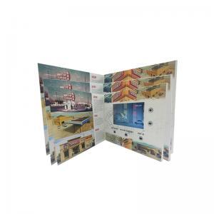 China Spot UV / Embossed Printing LCD Video Business Cards Folder 400mAh-2000mAh Optional on sale