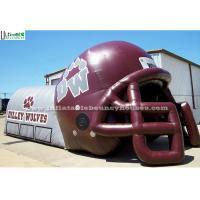 China Huge Inflatable Football Helmet Tunnel Tent Lead Free PVC Tarpaulin on sale