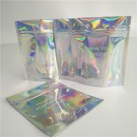 Stand Up Cosmetic Pouch Makeup Bag Fashion Clear Shinny Bag Pouch Holographic Hologram Cosmetic Bags