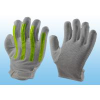 Interlock Finger Reflective Gloves For Directing Traffic , Cotton Hand Gloves Velcro Type