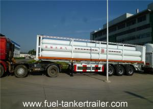 China Container tube gas tank trailer for Loading CNG Medium with 9 units Gas Cylinder on sale
