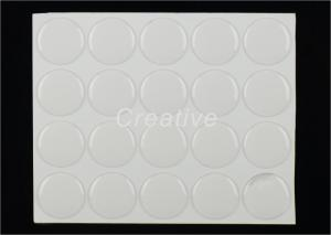 China 25mm Domed Centres Epoxy Clear Circle Stickers For Insert Medals Awards on sale