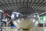2M Slivery Inflatable Mirror Ball , Large Helium Balloons For Advertising