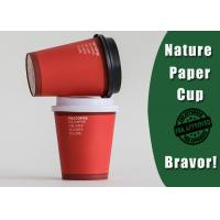 Fashional Style Personalized Paper Cups For BusinessRed / White Color 8 Ounces