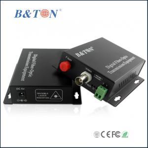 China 1 channel digital fiber optic cctv video converter on sale