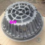 QSF21500 Series 15 1/4 Diameter Large Sump Cast Iron Roof Drain with 4 No Hub Outlet