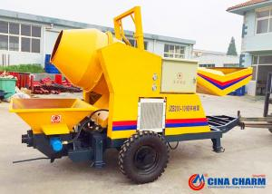 China Electric 4500kg Concrete Mixer Pump 30m3 / H Capacity With Mixer Machine on sale