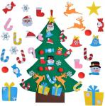 Educational DIY Felt Christmas Party Crafts Home Door Decoration Gifts For Kids
