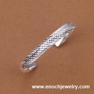 China mens sterling silver bangle bracelets wholesale on sale