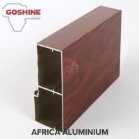Unique Emulation Wood Finish Aluminium Profiles Composite Panel Rectangle Shape