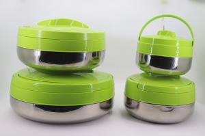 China Office Stainless Steel Lunch Box Keep Warm Wtih Green Cover 2L - 10L Capacity on sale