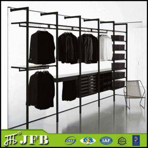 Hot Selling Wooden Wardrobe /Wood Clothes Closet/MDF Cabinet Closet  Aluminum Wardrobe Pole System