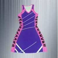 China customized ladies netball uniforms latest design netball dress for club polyester spandex netball dress on sale
