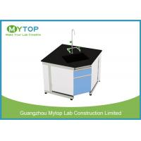Steel And Wood Modern Lab Furniture Conner Lab Desk With PP Sink And Water Tap