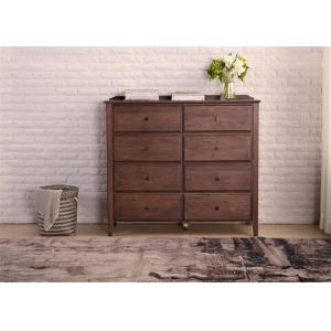China Dual Drawers Solid Oak Living Room Storage Cabinet Classical Style Standard Size on sale