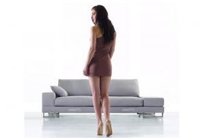 Quality Italian sofa designs 3 Seaters sofa , Modern Fabric Sofas Furniture , Fabric for sale