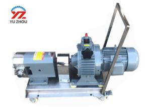 China Customized Color Rotary Lobe Pump With Variable Frequency Gear Reducer Motor on sale