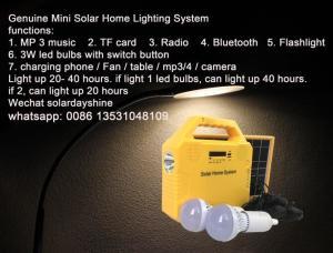 China wholesale price Genuine Mini Solar Home Lighting System with radio mp3 bluetooth on sale