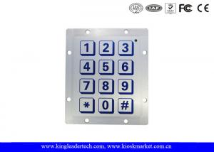 China 12 keys Piezoelectric Keypad for Indoor and Outdoor Access Control System on sale