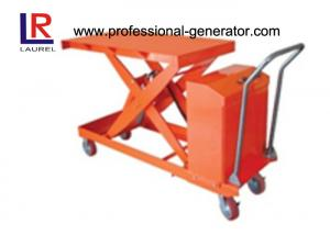 China 800W Warehouse Material Handling Equipment Mini Scissor Lift Table With Roller on sale