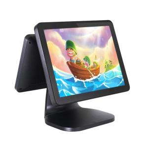China Dual Screen 15 Inch Android POS Terminal High Definition CJ - A5D With NFC 4G on sale