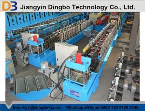 China Garage Metal Shutter Door Roll Forming Machine , Steel Strip Roller Slat Making Machine on sale