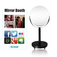 Hot sale open air photobooth party light booth mirror round vintage ring light photo booth
