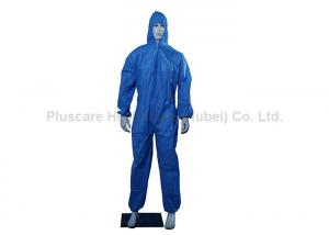 China Tyvek Spun Lace SMS Disposable Protective Coveralls 2 Way Zipper With Hood on sale
