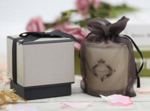 China Color Painting Home Scented Candles Air Fresh With Ribbon Gift Box on sale