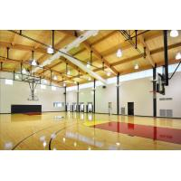 China Professional PVC Sports Flooring , Basketball Court Tile Flooring Wooden Type Sealed on sale