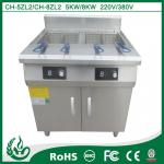 Freestanding double tank commercial deep fryers with 5kw