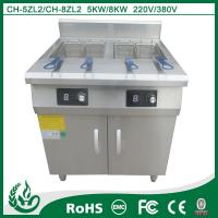 China Freestanding double tank commercial deep fryers with 5kw on sale