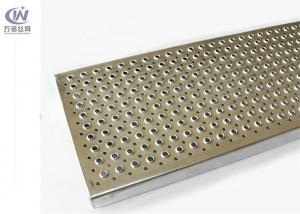 China Collared Holes Perforated Metal Grating Walkway Aluminum Materials For Stair Treads on sale