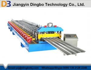 China Trapezoidal Metal Roof Panel Machine , Fast Steel Roll Forming Machine on sale