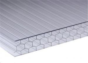 China Polycarbonate Honeycomb Plastic Sheet , Greenhouse Clear Roof Panels For Pergola on sale