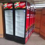 Commercial supermarket cooler upright display single door beverage cooler
