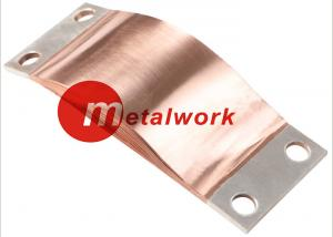 China CE Flexible Copper Shunts , Copper Foil Connector For Electrical Connection on sale