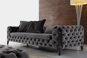 Quality Italian Modern Fabric Sofas Uphostered Sofa Chesterfield For