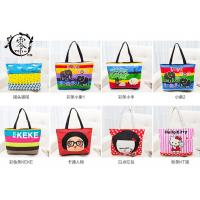 Multiple Designs Lady Canvas Recycle Grocery Bags Cartoon Pattern Girls Shoulder Bags Handbags