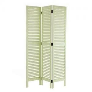 China White Wood 3 Panels Foldable Weave Cheap Screens Room Divider Partition Wall on sale
