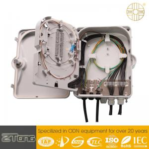 China Waterproof Plastic Fiber Optic Termination Box 12-24F Capacity Corrosion Resistance on sale