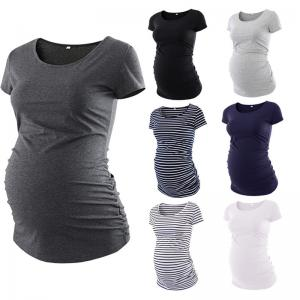 China newest design custom made cotton cheap blank wholesale maternity t shirts on sale