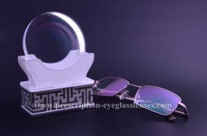 Quality 1.60 Index Anti Glare Anti Blue Lens Blank , HMC Clear Blue Blocker Lens Blanks for sale