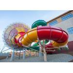 Fiberglass Tornado Water Slide Factory In China Outdoor Amusement Park Equipment
