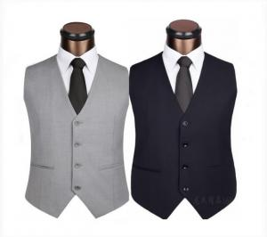 China Personalized Restaurant Work Wear Fashion Sleeveless Uniform Design Vest For Waiter on sale