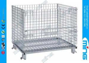 China Customized Steel Mesh Wire Dump Bins Square for Retail Promotion on sale