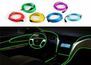 China Red Green Light Up EL Wire For Festival Decoration / Glow In The Dark Wire on sale