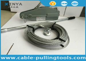 China 1.6T Tirfor Cable Pulling Tools Wire Rope Winch for Construction Hoist on sale