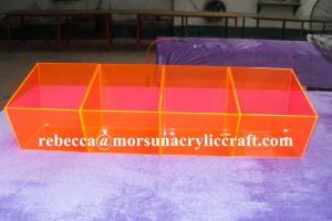 China Colorful acrylic storage box plexiglass food display box on sale