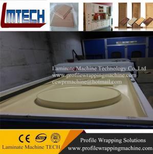 China high quality wood grain kitchen cabinet door vacuum membrane press machine on sale